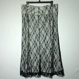 Worthington Semi-Formal Lace Maxi Skirt Size 12